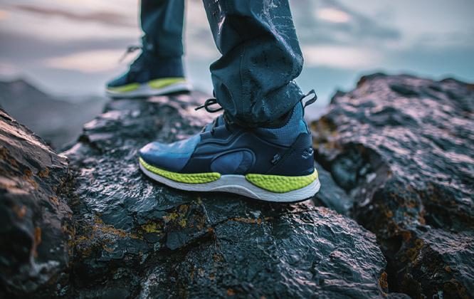 SH/FT shoe showing cushioning, High Energy Return.